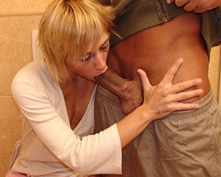 This mature toilet slut loves to take on up the ass
